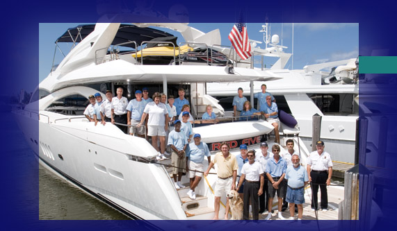 Harbour Towne Marina Staff on Motor Yacht